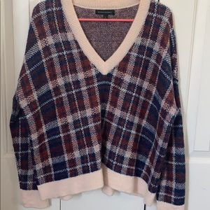 Wool/Mohair Plaid Sweater
